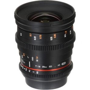 Rokinon DS 20mm T1.9 Cine Lente para Canon EF