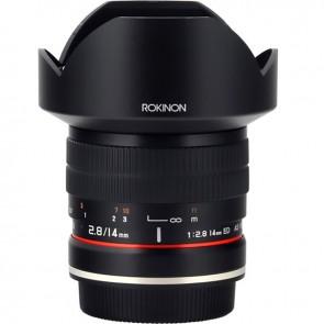 Lente Rokinon 14mm f 2.8 IF ED UMC para Canon EF con Chip AE