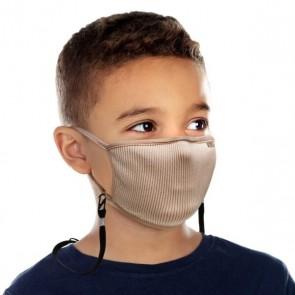 Mascarillas para Niños filtrante FU Plus con filtro lavable XS Beige