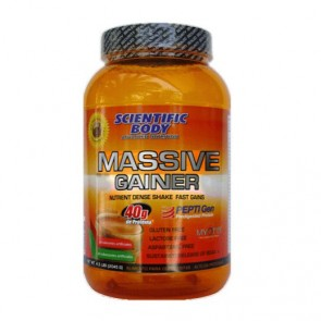 Suplemento Alimenticio Massive Gainer 2.045g Chocolate Scientific Body