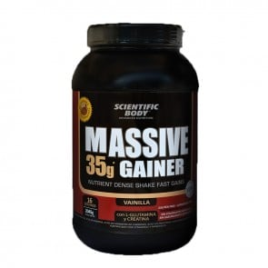 Suplemento Alimenticio Massive Gainer 2.045g Vainilla Scientific Body
