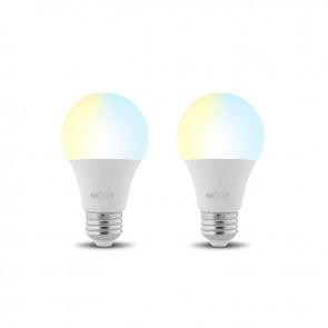 Pack de 2 Ampolletas Wifi LED Blanco-Cálido 800 lúmenes