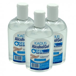 Pack de 3 Alcohol Gel Kadus 450 ml