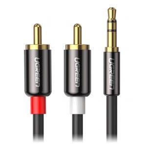Adaptador de 3.5mm a 2 RCA - Ugreen