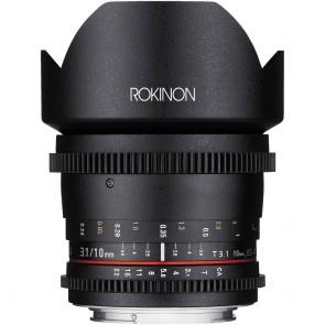 Lente Rokinon 10 mm T3.1 Cine DS con montura Canon EF para APS-C