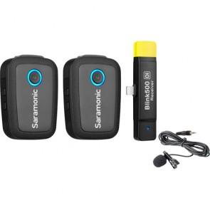 Sistema de micrófono Omni Lavalier Inalámbrico Digital para 2 personas para dispositivos Lightning iOS Saramonic Blink 500 B4