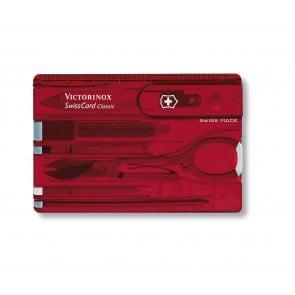 SwissCard Victorinox con 10 Funciones Roja Trans