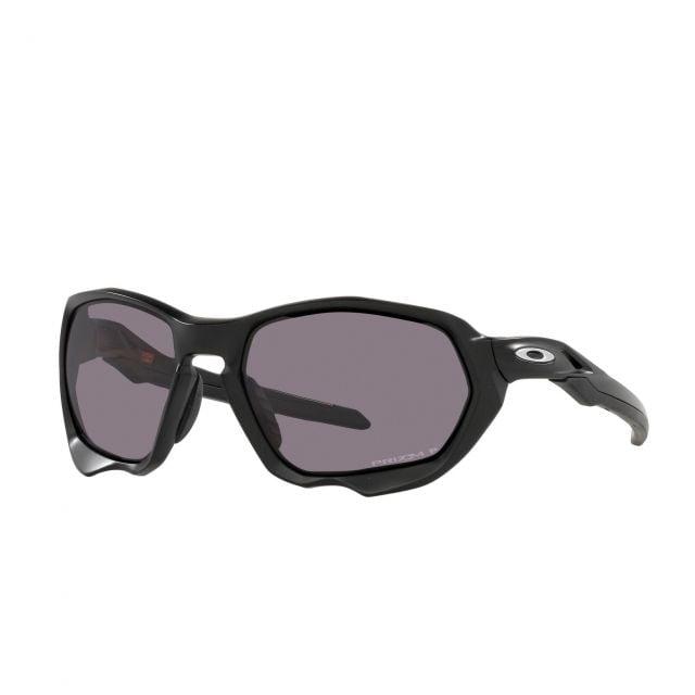 Lente de Sol Oakley Oakley Plazma Marco Matte Black Lente Prizm Grey Polarized Calibre 59 Polarized