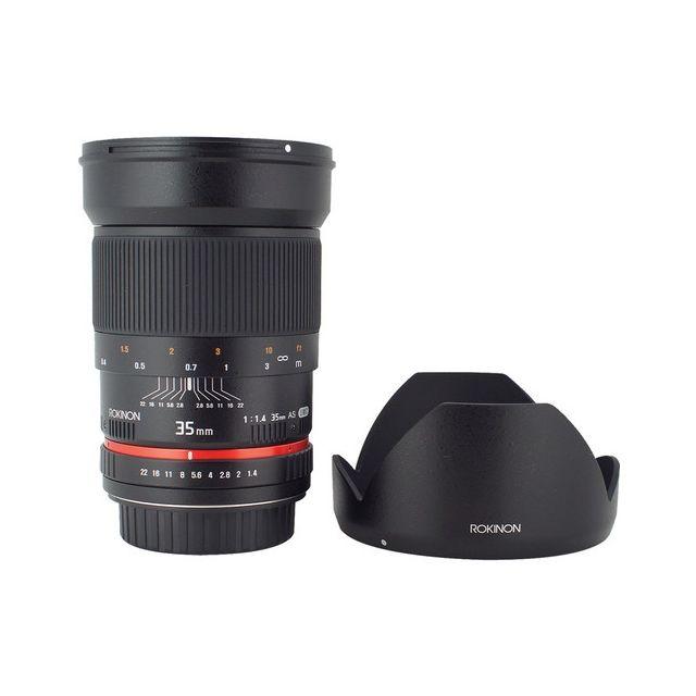 Lente Rokinon 35mm f / 1.4 AS UMC para Canon EF