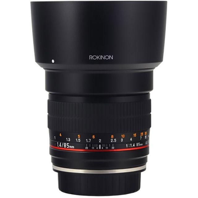 Lente Rokinon 85mm f / 1.4 AS IF UMC para Canon EF con Chip AE