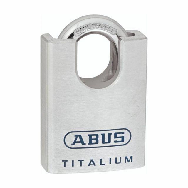 Candado de Aluminio Macizo Abuss Titalium 96CSTI