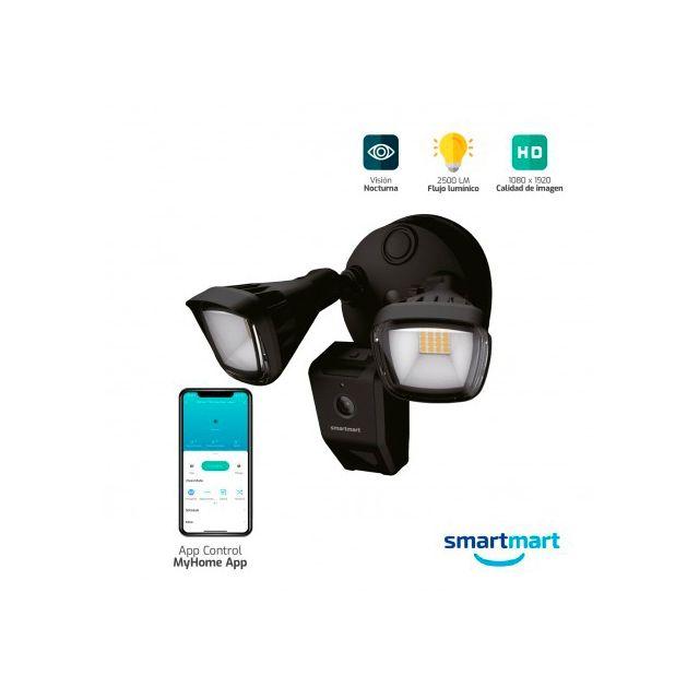 Foco Inteligente con Cámara HD y audio Bidireccional WiFi Smartmart S1