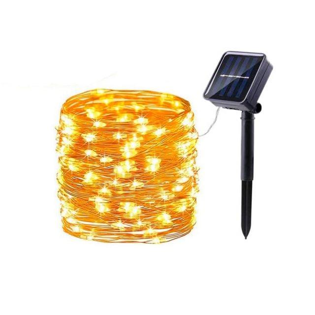 Guirnalda Solar Tipo Alambre 200LED Ebest