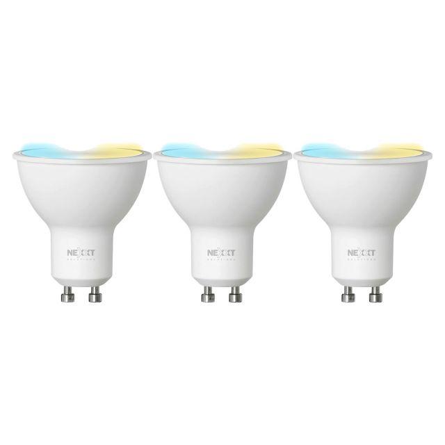 LED Wifi LED GU10  Nexxt 3 Unidades