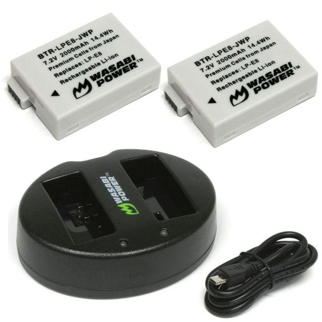 Pack de 2 Bateria para Canon LP-E8 Wasabi 1