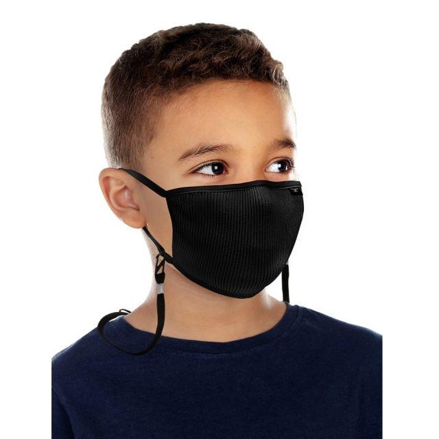 Mascarillas para Niños filtrante FU Plus con filtro lavable XS Negro