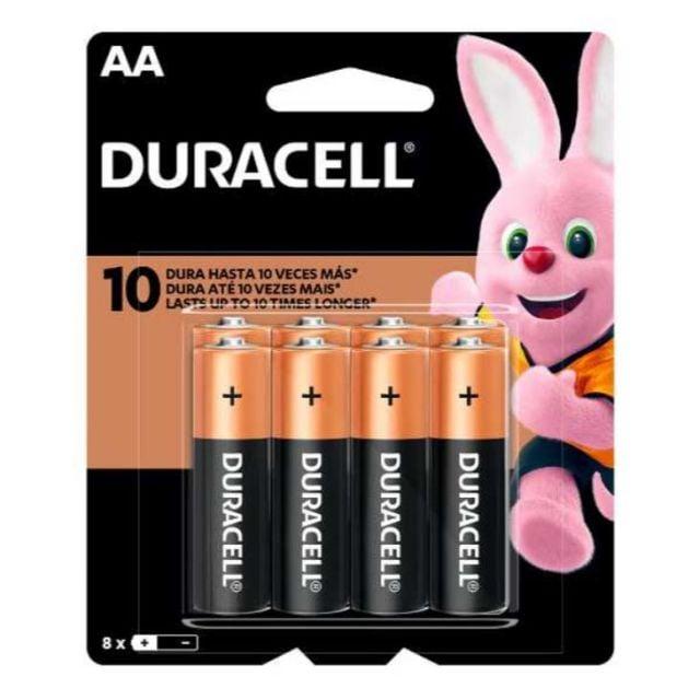 Pack de 8 Pilas AA Alcalinas Duracell