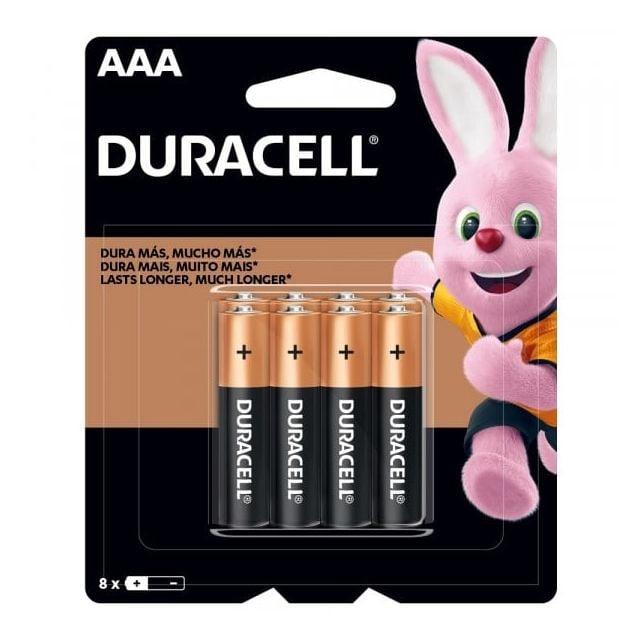 Pack de 8 Pilas AAA Alcalinas Duracell