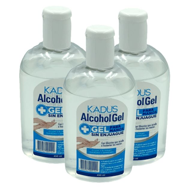 Pack de 3 Alcohol Gel Kadus 450 ml