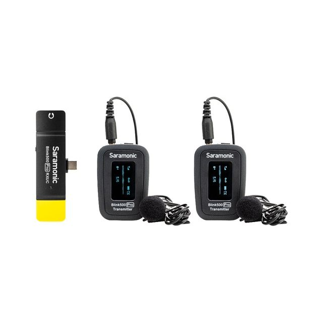 Sistema de Microfono Inalambrico Doble Saramonic Blink 500 Pro B6