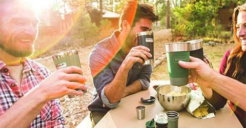 vasos y termos camping