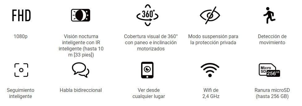 Camara Wi-Fi 1080P con Paneo Ezviz C6N FHD