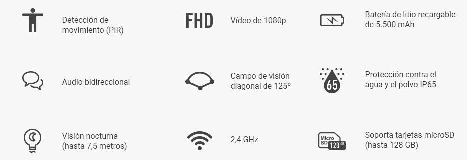 Camara de Seguridad Inalambrica HD Ezviz C3A