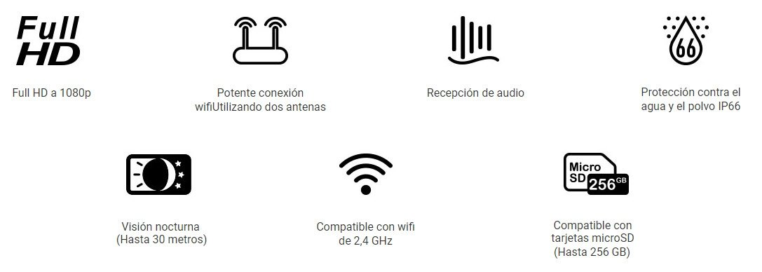 Camara Wi-Fi Exterior Full HD Ezviz C3WN